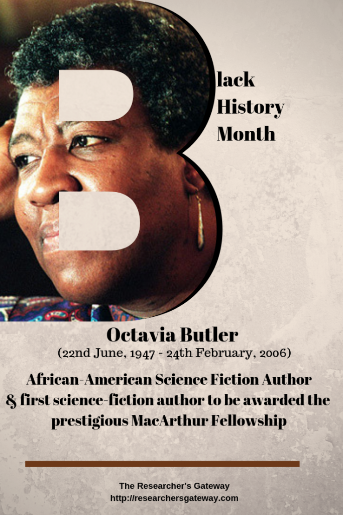 Black History Month - Octavia Butler, Science Fiction Author