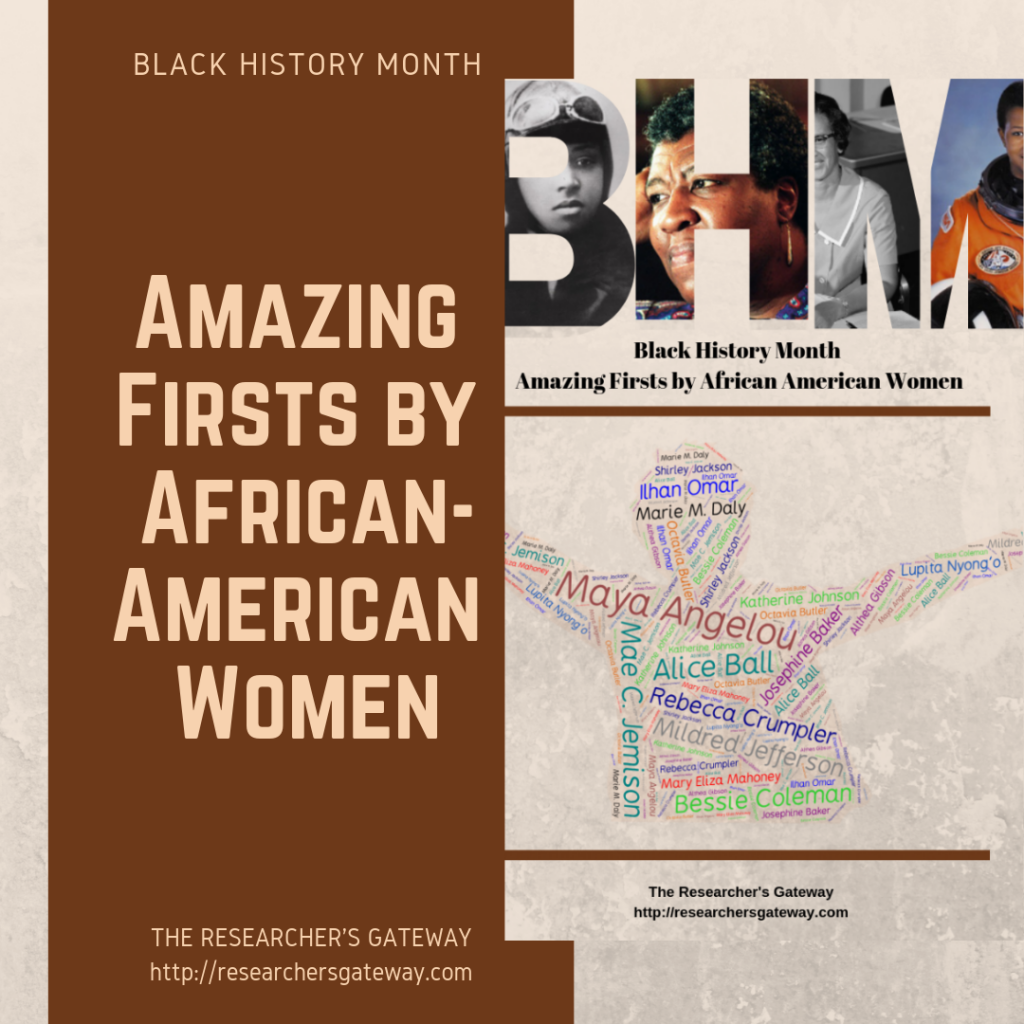 Amazing Firsts by African-American Women