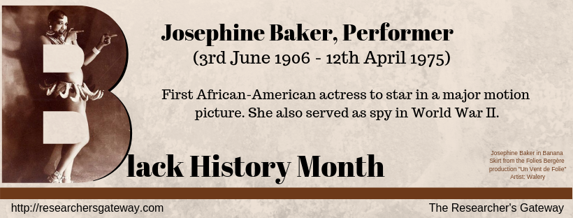 First African-American actress to star in a major motion picture. She also served as spy in World War II.