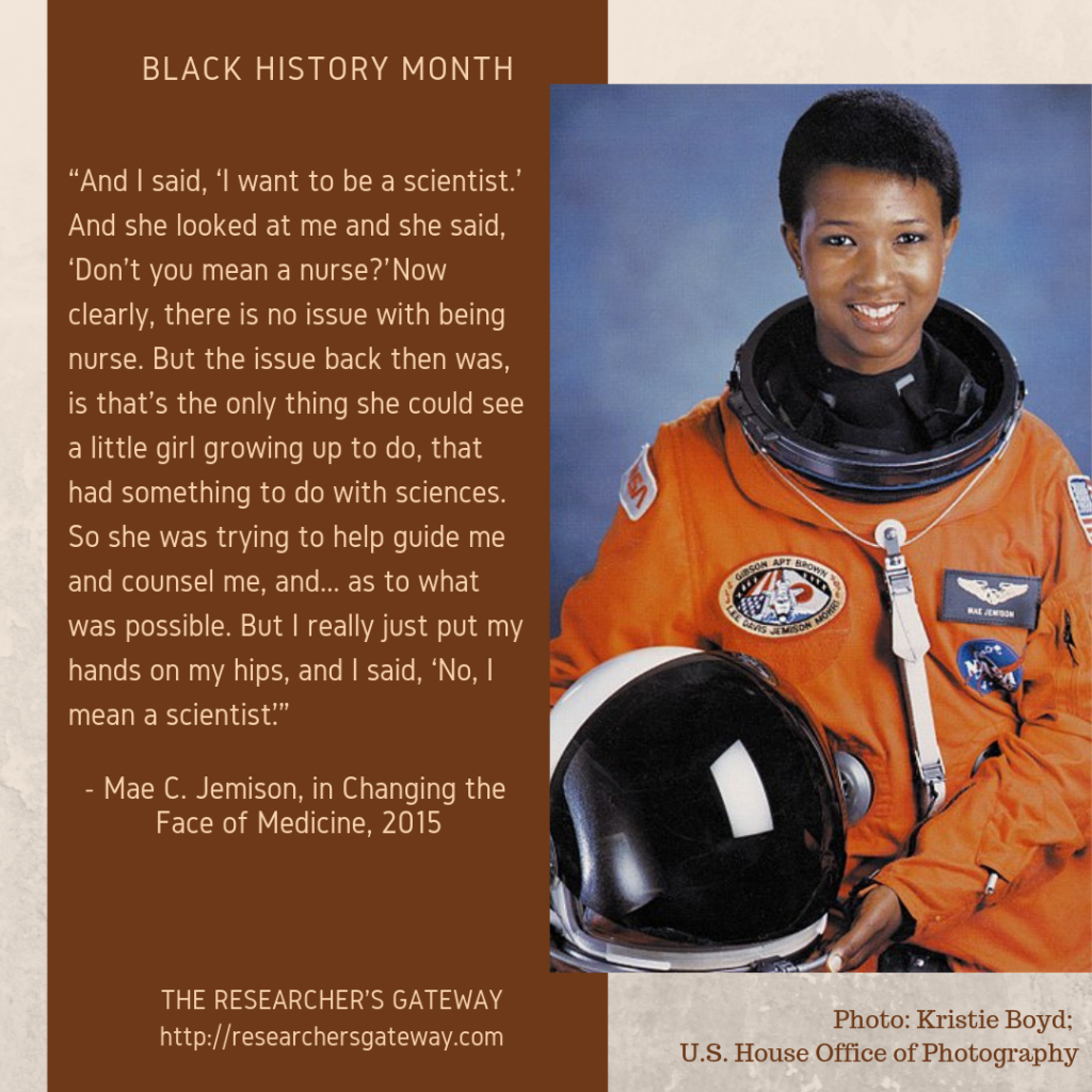 First African-American woman astronaut to go travel in space.