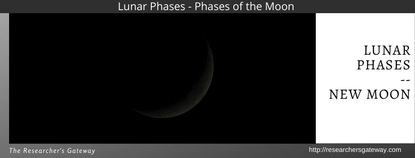 Lunar Phases - the New Moon.