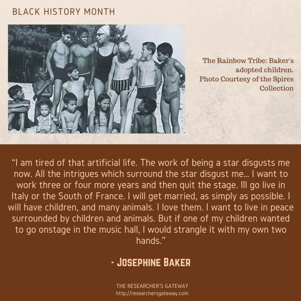 Josephine Baker Quote, Rainbow Tribe, Children