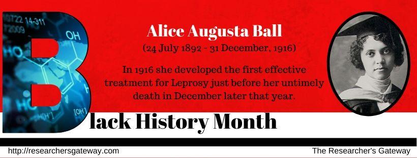 Black History Month - Alice Augusta Ball