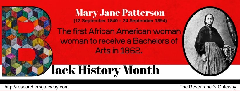 Black History Month - Mary Jane Patterson