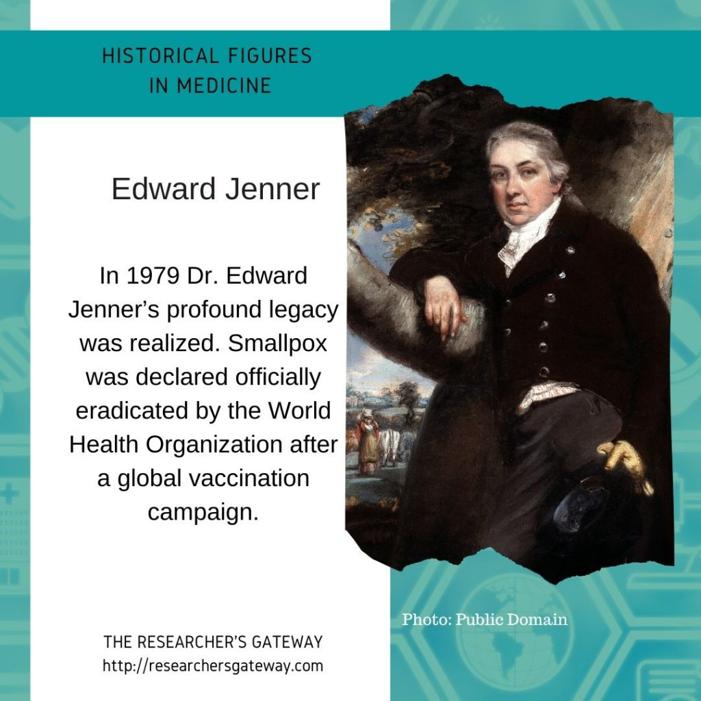 Edward Jenner and smallpox  at The Researcher's Gateway and Famous Medical Figures