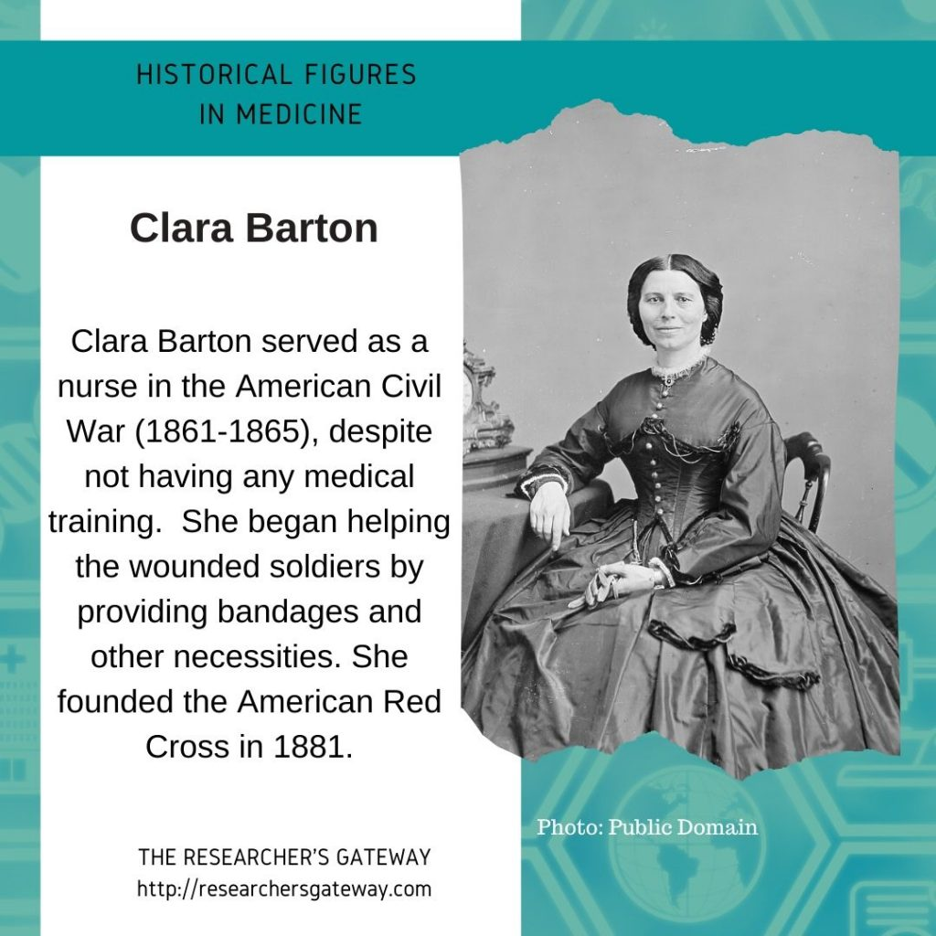 Clara Barton founded the American Red Cross in 1881.
