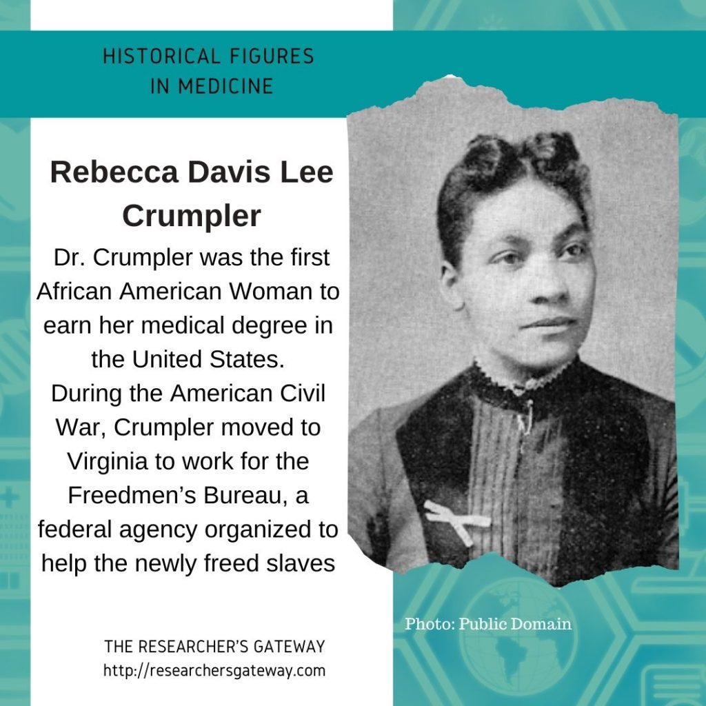 Rebecca Crumpler was the first African American Woman to earn her medical degree in the US.