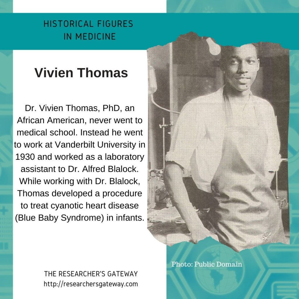 Vivien Thomas developed a procedure to treat cyanotic heart disease in infants.